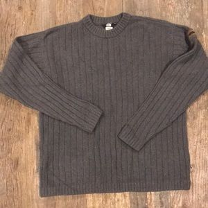 North Face Gray Wool Crew Neck Sweater Med VGUC